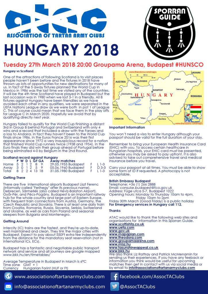 ATAC Sporran Guide to Hungary